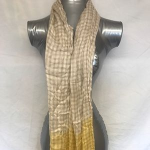 Fringed Checkered Scarf